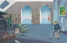 The Sanctuary - Conroy Maddox - Surrealism