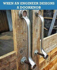Spanner door handles