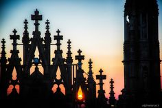 duomo di milano al tramonto - Sunset on the cathedral of Milan
