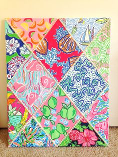 Lilly pulitzer DIY canvas! Painted Lilly patterns! By Taylorstorrer