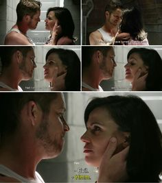 "Regina and Robin - 4 * 8 ""Smash the mirror"" #OutlawQueen"
