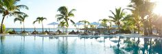 A luxury resort in Mauritius, located in Grand Gaube (north of the island). Mauritius Resorts, Maldives, Sitges, Greatest Adventure, Archipelago, Hotels And Resorts, Backdrops, Island, Landscape