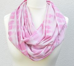 Pink Infinity Scarf Nude and Pink hand dyed large by Schalrausch