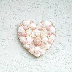 Shell Heart Valentines Day Seashells Heart by SandisShellscapes