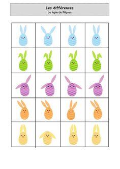 Teaching Kindergarten, Preschool Learning, Educational Activities, Preschool Activities, Easter Games, Easter Crafts For Kids, Preschool Assessment, Pattern Worksheet, Play To Learn