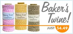 Baker's Twine by Hemptique at CraftySticks.com http://www.craftysticks.com/Ribbon-Twine_c_14.html