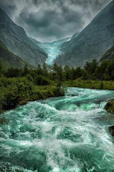 Briksdalsbreen Glacier, Norway.