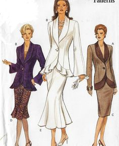 Royal Fashion, 80s Fashion, Fashion Outfits, 90s Pattern, 1990s Dress, School Dresses, Vogue Sewing Patterns, Contrast Collar, Fitted Skirt