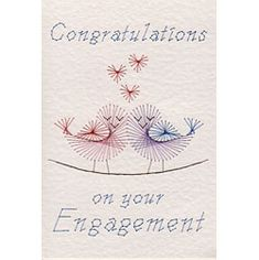 Stitching Cards Engagement Birds