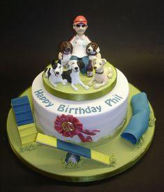 Dog agility cake.