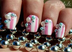 D nail art is a technique for decorating nails that creates three dimensional designs. I like this idea for an accent nail.