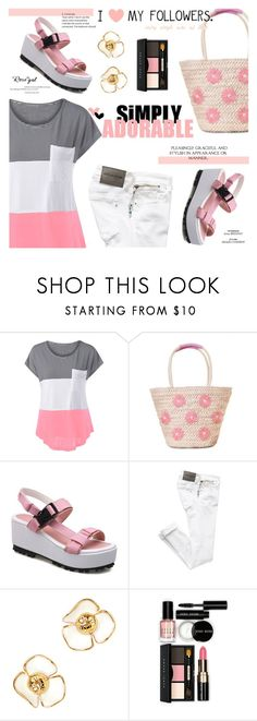 """Rosegal"" by sans-moderation ❤ liked on Polyvore featuring Privileged, Tory Burch and Bobbi Brown Cosmetics"