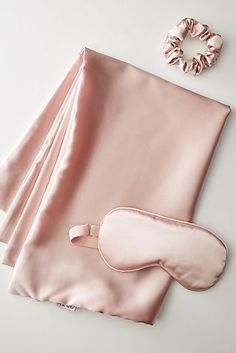 Kitsch Satin Beauty Sleep Set by in Pink Size: All, Bath & Body at Anthropologie Detangling Hair Brush, Genuine Smile, Metal Tattoo, Sleep Set, Ponytail Holders, Sleep Mask, Makeup Kit, Kitsch, Sleeping Beauty