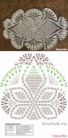 Home Decor Crochet Patterns Part 165 - Beautiful Crochet Patterns and Knitting Patterns Free Crochet Doily Patterns, Crochet Doily Diagram, Crochet Mandala, Crochet Chart, Thread Crochet, Crochet Motif, Irish Crochet, Crochet Designs, Crochet Lace