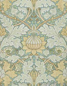 William Morris - St James's wallpaper, design for St. James's Palace, 1881, manufactured by Morris and Co. Aymer Vallance for `The Art of William