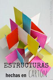 Estructuras de cartón reciclado