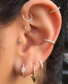 Gold Filled Conch Ear Cuff wide no piercing faux piercing earcuff minimalist fake piercing cartilage cuff earrings dainty jewelry minimal - Custom Jewelry Ideas Lobe Piercing, Tragus Piercings, Ear Peircings, Cute Ear Piercings, Multiple Ear Piercings, Second Piercing, Piercing Tattoo, Piercings For Small Ears, Body Modifications