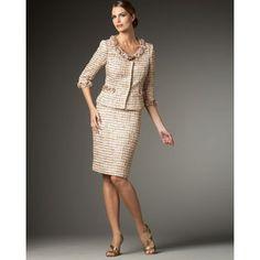 Women's Tahari Embellished Tweed Suit - Elie Tahari - Polyvore