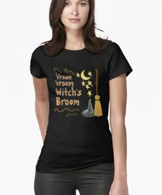 Vroom Vroom Witch's Broom T-shirt from Melasdesign https://www.redbubble.com/people/melasdesign/works/16501857-vroom-vroom-witchs-broom?asc=u&p=t-shirt&rel=carousel&style=womens&utm_campaign=crowdfire&utm_content=crowdfire&utm_medium=social&utm_source=pinterest #redbubble #tshirts #fashion #style #Halloween #witch #broom #NASCAR #racing #race #Halloweentime #Halloweentheme