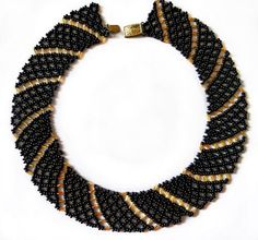 Free pattern for beaded necklace Katrina | Beads Magic  ~ Seed Bead Tutorials