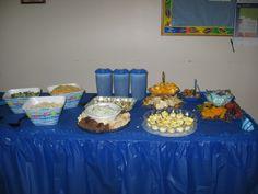 blue table- buffet