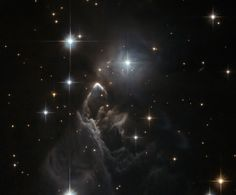 Hubble Images The little-known nebula IRAS 05437 2502 billows out among the bright stars and dark dust clouds that surround it. - The little-known nebula IRAS 05437 2502 billows out among the bright stars and dark dust clouds that surround it. Cosmos, Hubble Space Telescope, Space And Astronomy, Telescope Images, Astronomy Stars, Nasa Space, Space Photos, Space Images, Alpha Centauri