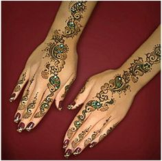simple and colorful Indian Mehndi Designs