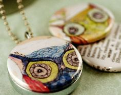 Owl Locket Necklace - Wise - Picture Locket By Polarity and Corid