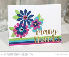 Stitched Flowers Die-namics, Thanks Die-namics - Lisa Johnson  #mftstamps