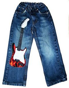 How to patch a hole in all those millions of boy pants! Great Idea!!!