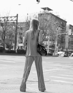 Julia Hafstorm with Pajama Set by Olivia Von Halle on Cool Chic Style Fashion