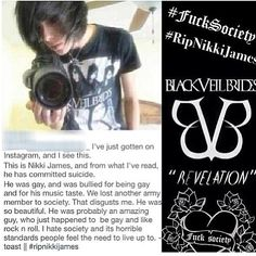 Instagram photo by @andybvbarmy.  RIP Nikki James