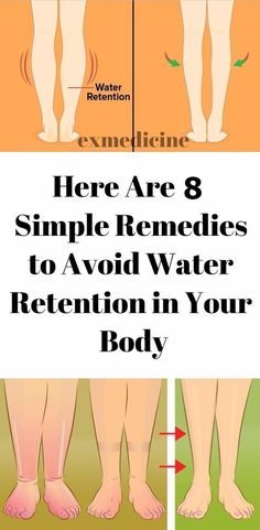 8 BEST HOME REMEDIES TO REDUCE WATER RETENTION!
