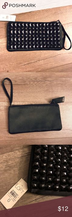 Ann Taylor Loft Wristlet Cute black wristlet you can wear and accessorize with your little black dress on for a date night or a girls night out! LOFT Bags Clutches & Wristlets