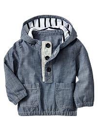 Chambray popover jacket