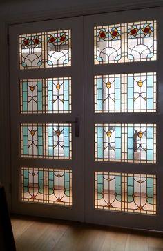 glas in lood  atelier schmit haarlem naar ontwerp villa alsberg amsterdam