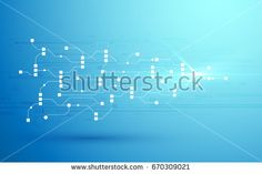 abstract circuit networking blockchain concept background