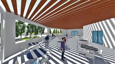 Gaza cultural center by sketch up & lumion