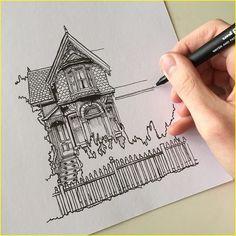 Architecture pens 00084