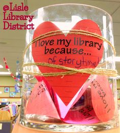 Valentines Day at Lisle Library District- passive program, could be a bulletin board display.