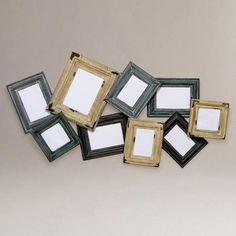 Hang a creative grouping of photos without having to work! (Esme Diagonal Multi-Frame from Worldmarket.com)