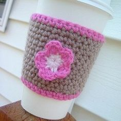 List of coffee cup cozy crochet patterns. Choose from easy crochet coffee cozies, crochet coffee cozy for beginners, crochet coffee cozy with...