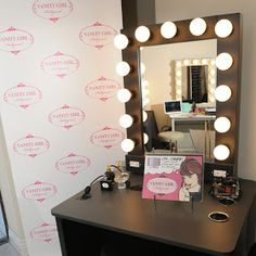 Broadway Lighted Vanity Makeup Desk   By Vanity Girl Hollywood; Love The  Mirror, Not Sure How I Feel About The Desk And What About Storage?