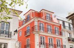 Just a short stroll from the shopping and café culture of Lisbon's upmarket Chiado, this small building of just eight apartments offers the perfect. Small Buildings, Lisbon, Facade, Mansions, Luxury, House Styles, Manor Houses, Villas, Facades