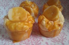 Banana Caramel Cupcake Bakery Tarts on Etsy, $5.35
