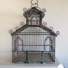 Spring Decor: Ornate Wire Birdcage, SOLD OUT!