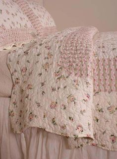 Vintage bedding, and transported to simpler times