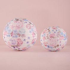 Floral Paper Lantern Sizes