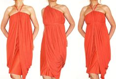 Convertible Wrap Infinity Multi - way dress in two colors jersey - more than 18 ways to wear, No.1
