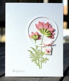 Rapport från ett skrivbord:  cute idea for using circle nesties and the little tag